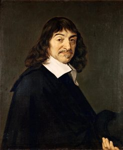 Rene Descartes (1596-1650) - Paiting located in Louvren museum of arts in Paris